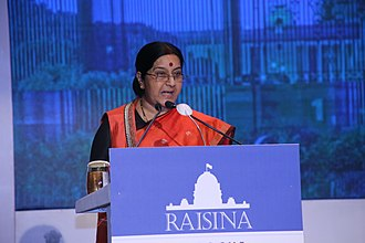 Raisina Dialogue - Minister of External Affairs, Ms Sushma Swaraj during Raisina 2016