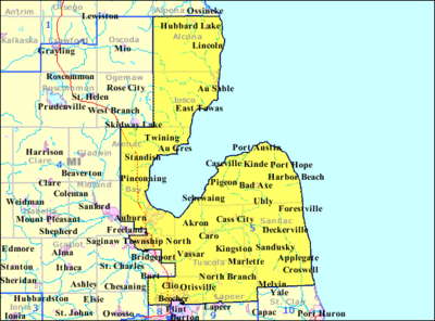 Michigans Th Congressional District Wikipedia - Us house of representatives district map michigan
