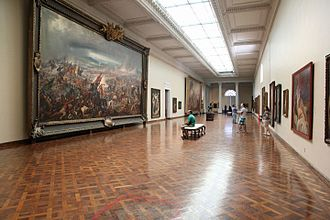Museu Nacional de Belas Artes - Exhibition room with Brazilian paintings of the permanent collection.
