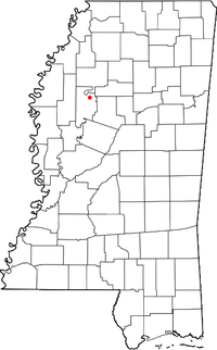 Location of Money, Mississippi