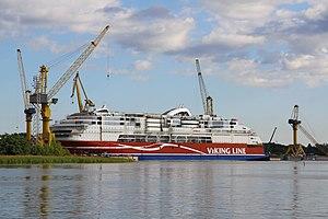 MS Viking Grace, Pernon telakka, Hahdenniemen venesatama, Raisio, 11.8.2012 (8).JPG