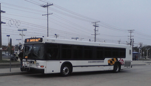 Neoplan AN440 - A 2002 Diesel AN440LF of the MTA Maryland; became latest version fabricated.