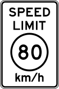 The values of metric speed limits in the US are to be circumscribed in accordance with the MUTCD.