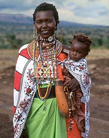 c0fbf9a77a580 A Maasai woman wearing her finest clothes