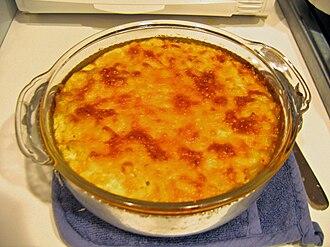 Macaroni pie - Hot macaroni pie