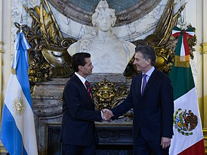 Argentina–Mexico relations - The President of Mexico, Enrique Peña Nieto and the President of Argentina, Mauricio Macri in 2016.