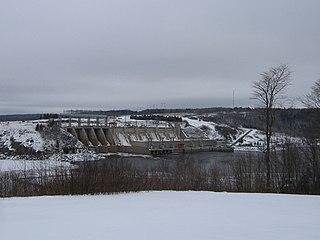 Mactaquac Dam dam in Bright Parish / Kingsclear Parish, York County, New Brunswick