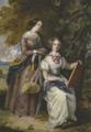 Madame Delessert (Valentine de Laborde (1806-1894)) et sa fille Cécile (comtesse de Nadaillac (1825-1887) assise en train de dessiner.png
