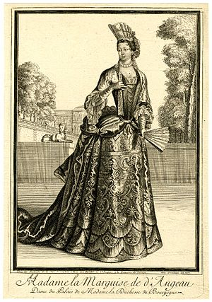 Philippe de Courcillon - His second wife Sophia Maria Wilhelmina von Löwenstein-Wertheim-Rochefort, Dame du Palais de Madame la duchesse de Bourgogne.