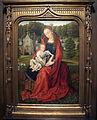 Maestro del fogliame ricamato, madonna col bambino in un paesaggio, 1500 ca..JPG