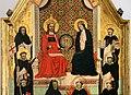 Maestro delle effigi domenicane, tavola del beato maurizio d'ungheria (santi e beati domenicani al cospetto di gesù e maria in trono), 1335-40 ca. 02.jpg