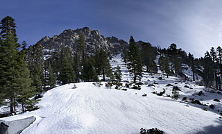 Maggies Peaks mountain west of Lake Tahoe, California in United States of America