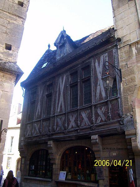 Maison Millière, rue de la Chouette à Dijon.