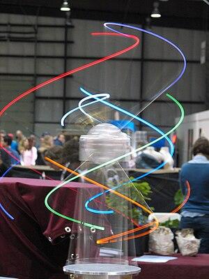 Maker Faire - ORBIT 2 Kinetic Sculpture by Carl Pisaturo shown at 2008 Maker Faire