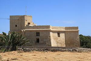 Mamo Tower - Image: Malta Marsaskala Triq id Dahla ta' San Tumas Mamo Tower 13 ies