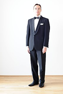 Black tie Semi-formal western dress code; dinner suit, tuxedo