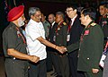 Manohar Parrikar being introduced to the Heads of member countries and organisations of ASEAN Regional Forum (ARF) - Heads of Defence UniversitiesCollegesInstitutions Meet (HDUCIM), in New Delhi.jpg
