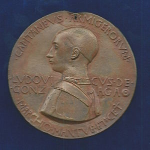 Pisanello - Portrait of Ludovico III Gonzaga, Margrave of Mantua. Electrotype of the medal by Antonio Pisano (obverse).