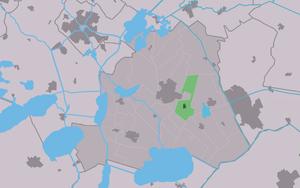 Haskerhorne - Image: Map NL Skarsterlân Haskerhoarne