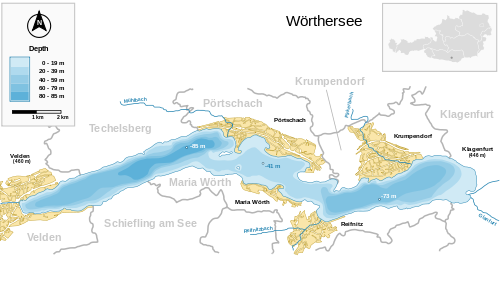 Map of Wörthersee