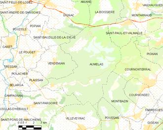 Aumelas - Map