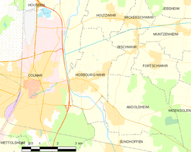 Mapa obce Horbourg-Wihr