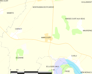 Capture of Montauban - Image: Map commune FR insee code 80513