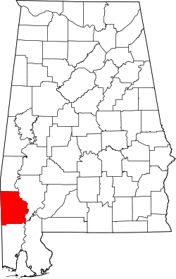 Map of Alabama highlighting Washington County.svg