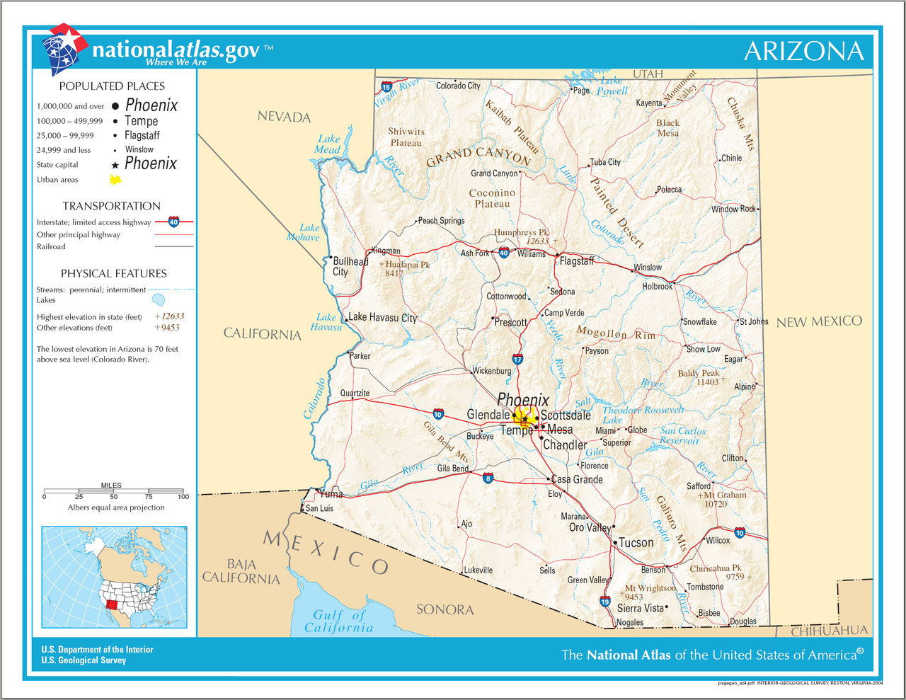 Map Of Usa Arizona.File Map Of Arizona Na Png Wikimedia Commons