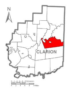 Map of Clarion Township, Clarion County, Pennsylvania Highlighted.png