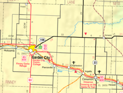 KDOT map of Finney County (legend)