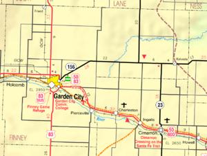 Map Of Finney County Kansas The Full Wiki