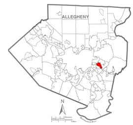 Map of Forest Hills, Allegheny County, Pennsylvania Highlighted.png