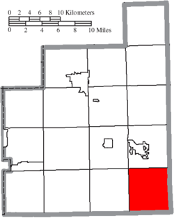 Location of Parkman Township in Geauga County