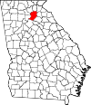 Map of Georgia highlighting Hall County.svg