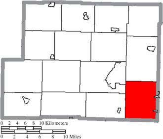 Short Creek Township, Harrison County, Ohio - Image: Map of Harrison County Ohio Highlighting Short Creek Township