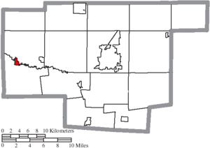 LaRue, Ohio - Image: Map of Marion County Ohio Highlighting La Rue Village
