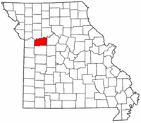 Map of Missouri highlighting Lafayette County.png
