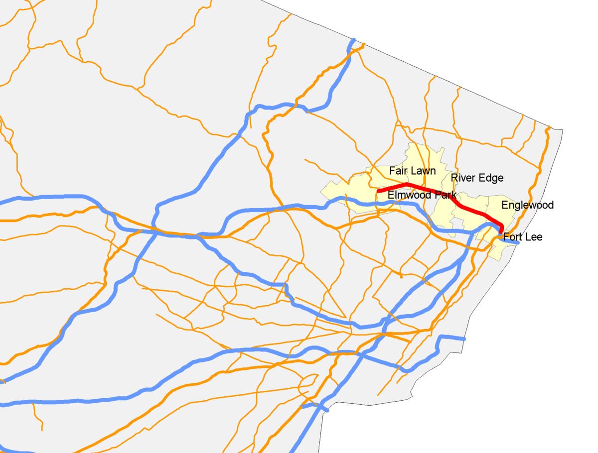Fort Lee New Jersey Map.New Jersey Route 4 Wikipedia