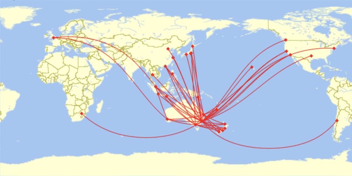 List of Qantas destinations - Wikipedia