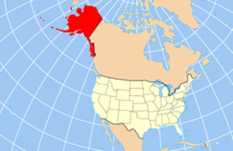 Sheldon Jackson - Map showing Alaska position relative to lower 48 states