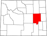 Map of Wyoming highlighting Converse County.svg