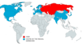 Map of the international trips made by Mikhail Gorbachev.png
