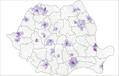 Map of the metropolitan areas of Romania.png