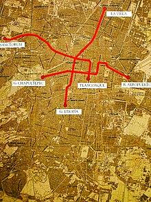 La Subway Map With City Map.Mexico City Metro Wikipedia