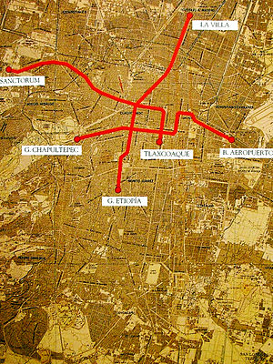 "Mexico City Metro - Original ""Plan Maestro"" for the Mexico City Metro."