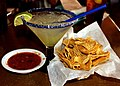 Margarita & Fresh Salsa and tortilla chips (9984797015).jpg