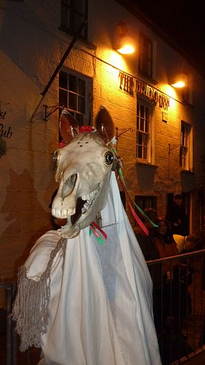 Mari Lwyd - At the Chepstow Mari Lwyd, 2014