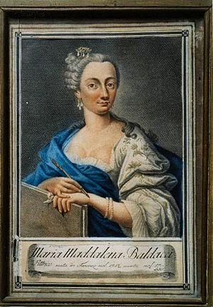 Maria Maddalena Baldacci - Self-portrait by Maria Maddalena Baldacci, 1750