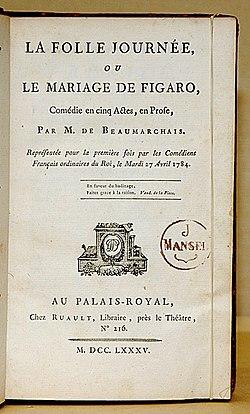 comique dans le mariage de figaro